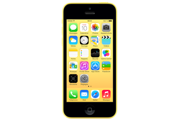 apple iphone 5c reconditionn 8go jaune. Black Bedroom Furniture Sets. Home Design Ideas