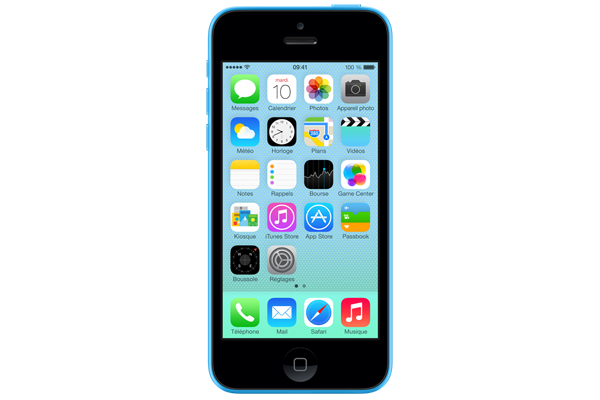 apple iphone 5c occasion 8go bleu sfr. Black Bedroom Furniture Sets. Home Design Ideas
