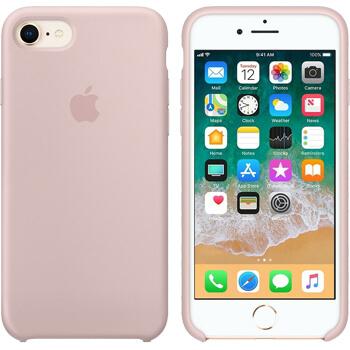 Coque Apple silicone pour iPhone 8/7 - Rose des sables - SFR ...