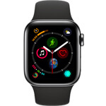 Apple Watch Series 4 4G 40mm aluminium gris sidéral - Bracelet Sport noir