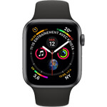 Apple Watch Series 4 GPS 44mm aluminium gris sidéral - Bracelet Sport noir