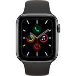 Apple Watch Series 5 4G 44 mm aluminium gris sidéral avec Bracelet Sport Noir