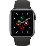 Apple Watch Series 5 4G 40 mm aluminium gris sidéral avec Bracelet Sport Noir