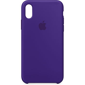 Coque Apple silicone pour iPhone X Ultraviolet