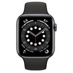 Apple Watch Series 6 4G 44 mm aluminium gris sidéral avec Bracelet Sport Noir