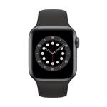 Apple Watch Series 6 4G 40 mm Aluminium Gris Sidéral avec Bracelet Sport Noir