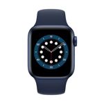 Apple Watch Series 6 4G 40 mm aluminium bleu avec Bracelet Sport marine intense