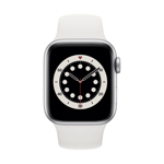 Apple Watch Series 6 4G 40 mm Aluminium Argent avec Bracelet Sport blanc