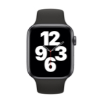 Apple Watch SE GPS 44 mm Aluminium Gris Sidéral avec Bracelet Sport Noir