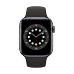 Apple Watch Series 6 GPS 44 mm Aluminium Gris Sidéral avec Bracelet Sport Noir