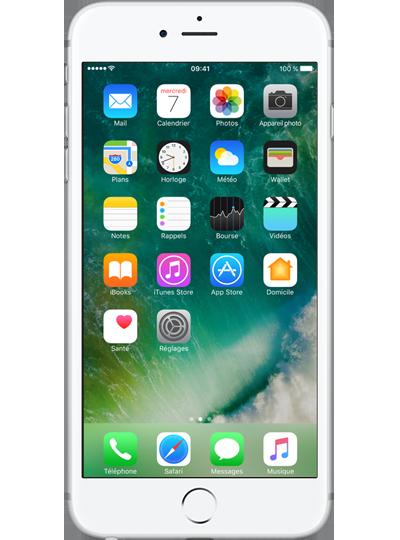 apple iphone 6s plus 128go argent sfr. Black Bedroom Furniture Sets. Home Design Ideas