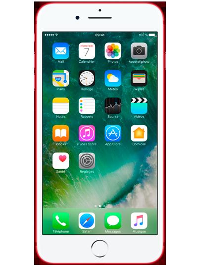 apple iphone 7 plus 128go rouge sfr. Black Bedroom Furniture Sets. Home Design Ideas